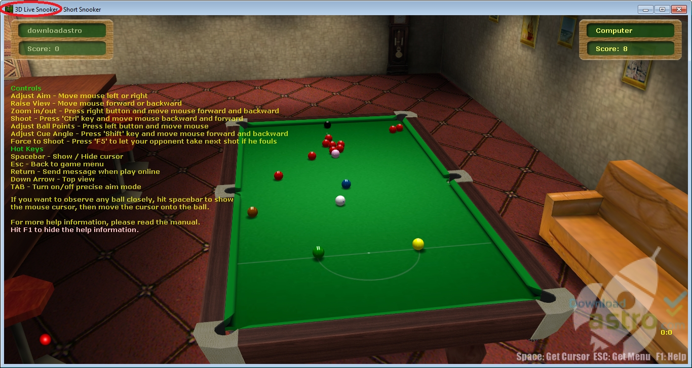 free online pool and snooker games