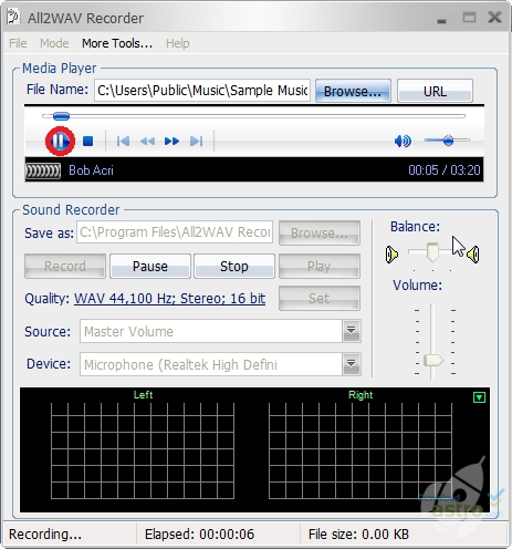 All2WAV Recorder - laatste versie gratis download 2016