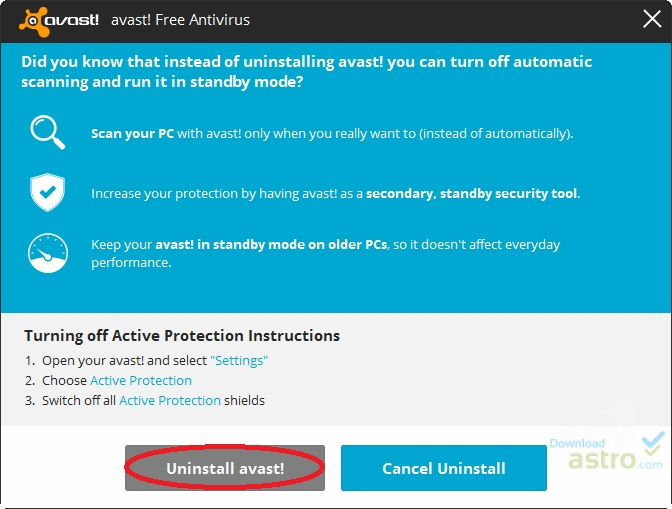 how to allow an exe in avast