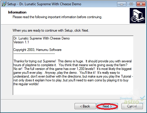 Dr lunatic supreme with cheese install