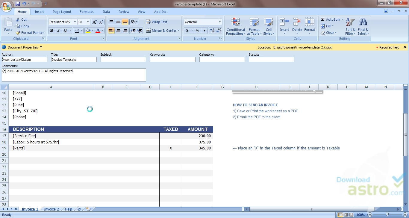 Microsoft Excel Free Templates