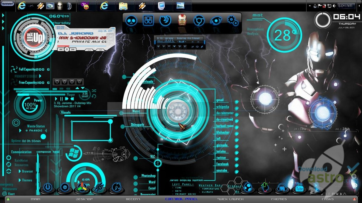 Iron man 2 windows 7 theme la derni re version - Iron man 2 telecharger ...