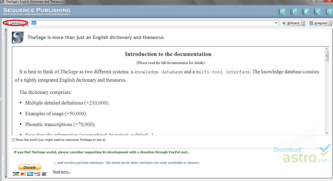 WatFile.com Download Free TheSage English Dictionary and Thesaurus - download gratis dell'ultima