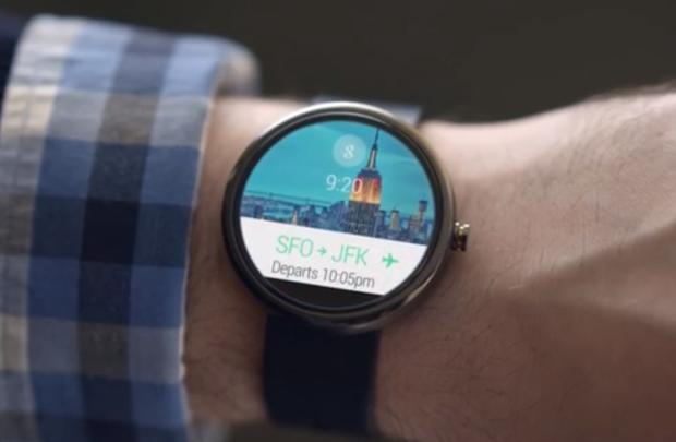 השעון של גוגל אנדרואיד על פרק יד